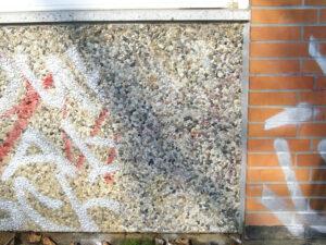 Čišćenje fasade na šljunčanom betonu, primjer 6