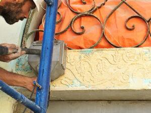 Čišćenje fasade od prirodnog kamena, primjer 4