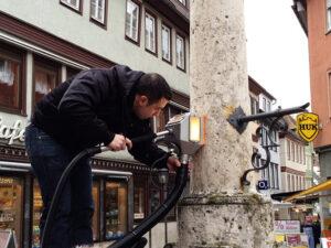 Čišćenje fasade od prirodnog kamena, primjer 6