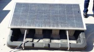 Čišćenje fotonaponskih panela, primjer 1