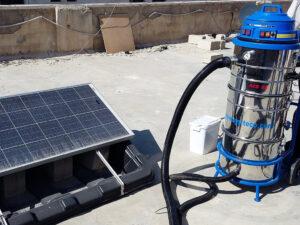 Čišćenje fotonaponskih panela, primjer 3