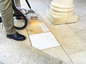 Čišćenje granitnog poda, primjer 2