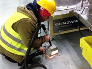 Čišćenje industrijskog poda, primjer 1