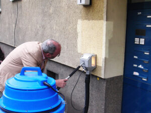Čišćenje žbukane fasade, primjer 3