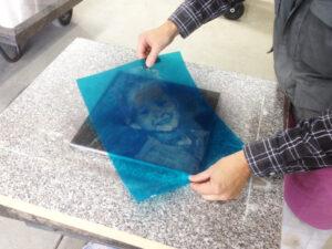Foto graviranje granita, primjer 2