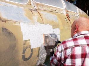 Skidanje boje sa zrakoplova, primjer 2