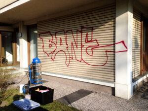 Uklanjanje grafita s baštine, primjer 5