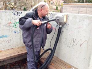 Uklanjanje grafita s betona, primjer 2