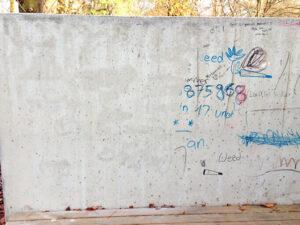 Uklanjanje grafita s betona, primjer 3