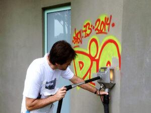 Uklanjanje grafita s betona, primjer 4