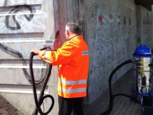 Uklanjanje grafita s betona, primjer 5