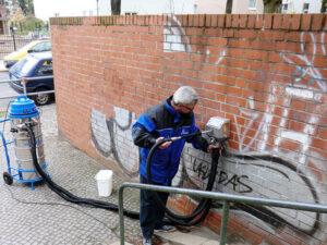 Uklanjanje grafita s cigle, primjer 4