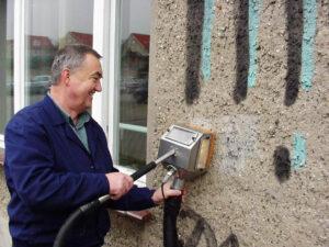 Uklanjanje grafita s gipsa, primjer 7