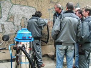 Uklanjanje grafita s gipsa, primjer 8