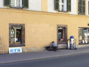 Uklanjanje grafita s obojene površine, primjer 3