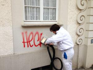 Uklanjanje grafita s obojene površine, primjer 4