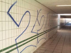 Uklanjanje grafita s pločica, primjer 5