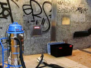 Uklanjanje grafita s prirodnog kamena, primjer 11