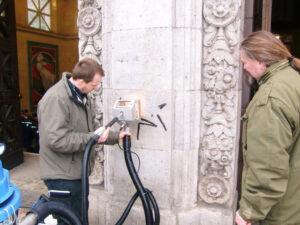 Uklanjanje grafita s prirodnog kamena, primjer 7