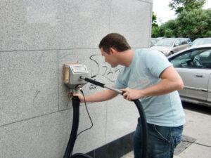 Uklanjanje grafita s prirodnog kamena, primjer 9